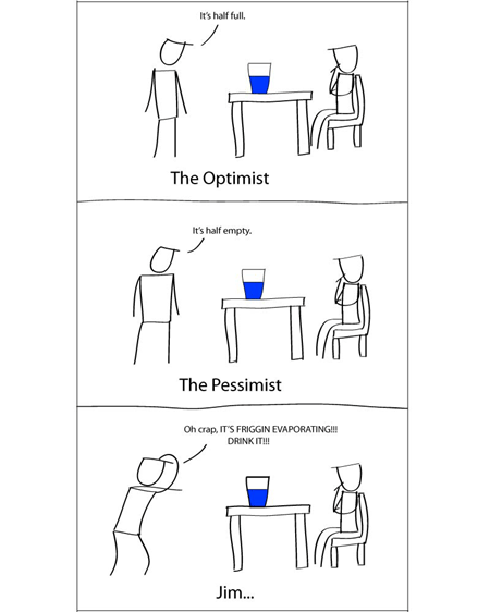 water,optimists,perspective,funny