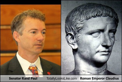 Senator Rand Paul Totally Looks Like Roman Emperor Claudius