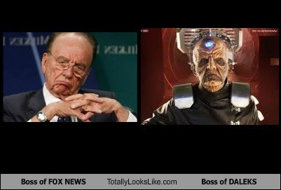 Rupert Murdoch Totally Looks Like Boss of DALEKS