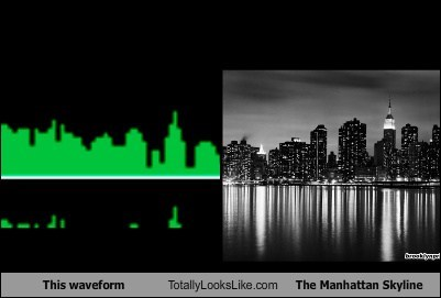 This waveform Totally Looks Like The Manhattan Skyline