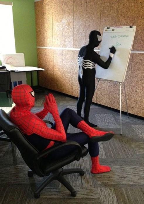 jobs,Spider-Man,puns,superheroes,Venom