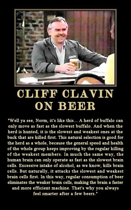 Cliff Clavin Knows What's Up
