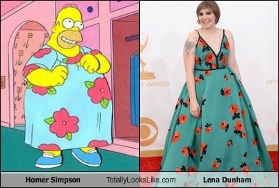 homer simpson,totally looks like,Lena Dunham,funny