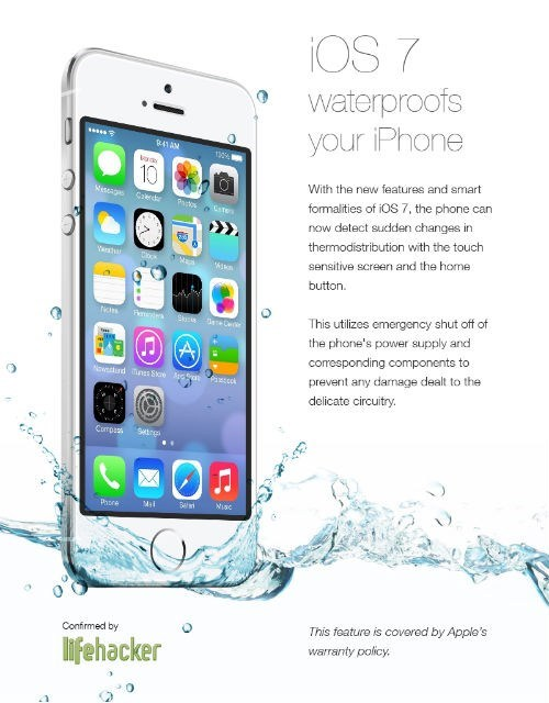 Hoax of the Day: 4chan Tricked Some iPhone Users into Thinking iOS7 Makes It Waterproof