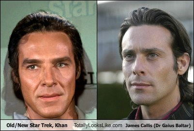Old/New Star Trek, Khan Totally Looks Like James Callis (Dr Gaius Baltar)