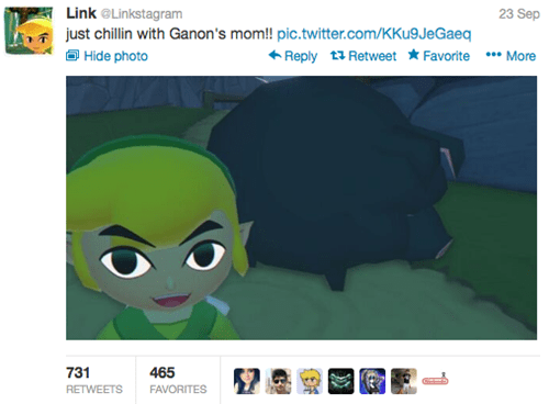Link Takes the Funniest Selfies