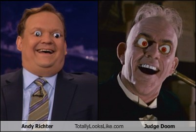 Andy Richter Totally Looks Like Judge Doom