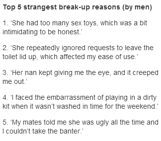 Any of These Breakup Excuses Sound Familiar?