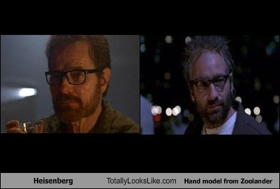 Heisenberg Totally Looks Like Hand model from Zoolander