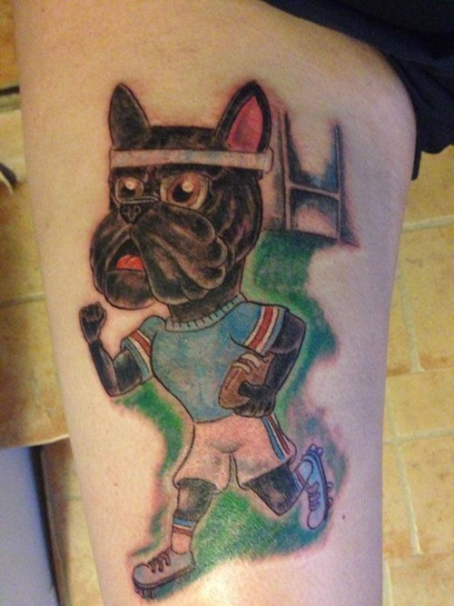 dogs,tattoos,football,funny,g rated,Ugliest Tattoos