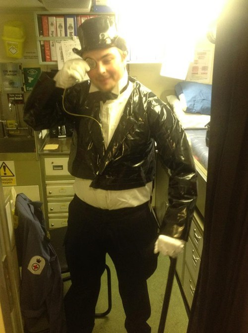 tuxedo,duct tape,funny,there I fixed it,costume,halloween