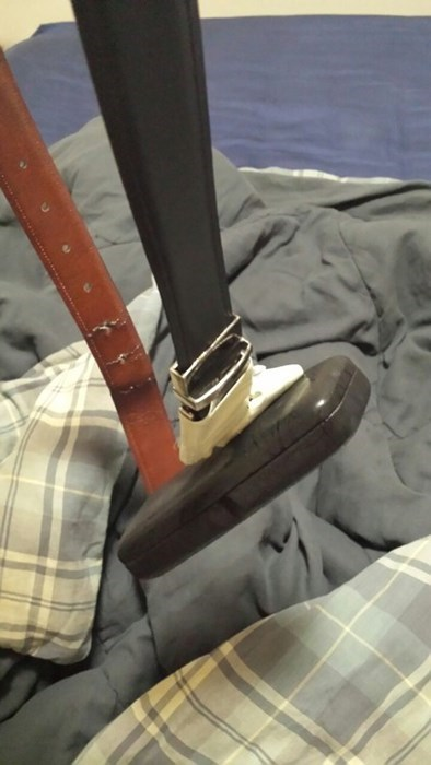 glasses case,duct tape,belt,there I fixed it