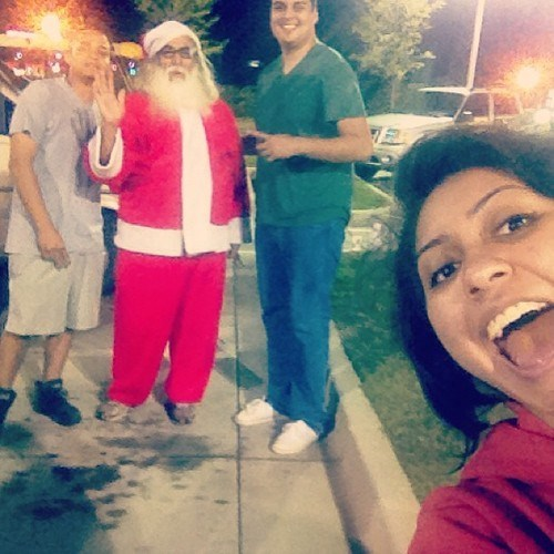 Photobomb Santa: Check!