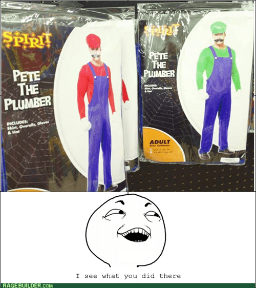 """Plumber"" Costumes: Now in TWO Colors"