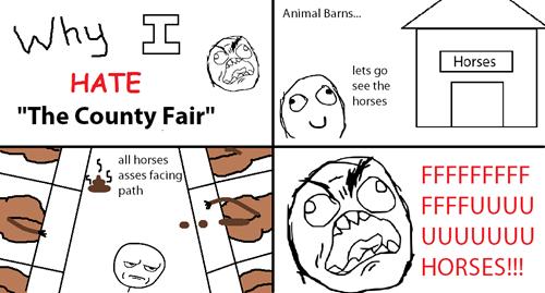 Why I hate the county fair - Animal Barns