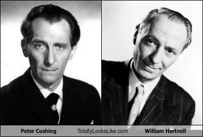 totally looks like,peter cushing,william hartnell,funny