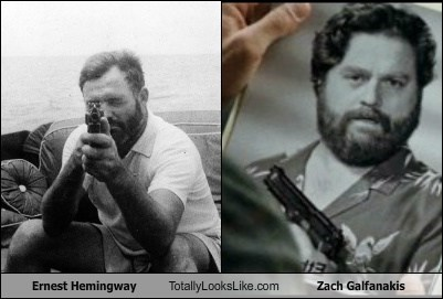 ernest hemingway,totally looks like,zach galfanakis