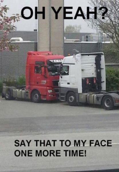 come at me bro,semi trucks,fights,trucks