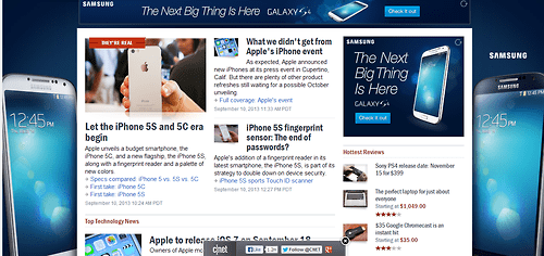 New iPhone Released? Better Buy All of the Site's Ad Space!