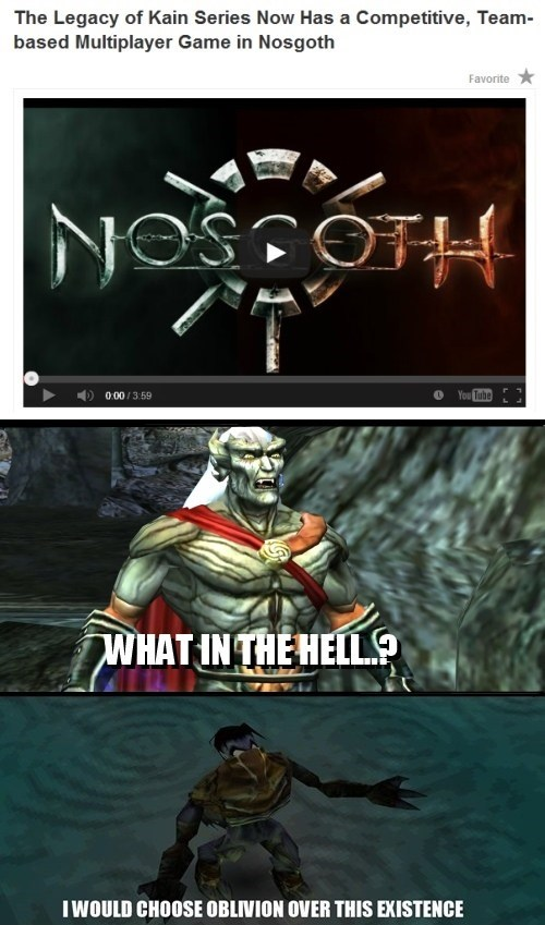 "Kain and Raziel React to ""Nosgoth"""