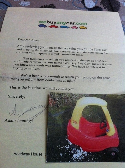 """You Keep Using That Phrase """"ANY Car!"""""""