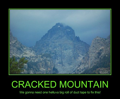 crack,mountain,duct tape,funny
