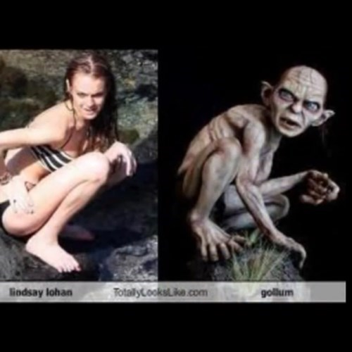 lindsay lohan totally looks like the gollum
