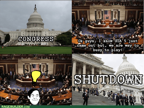 government shutdown,Congress,GTA V,Grand Theft Auto