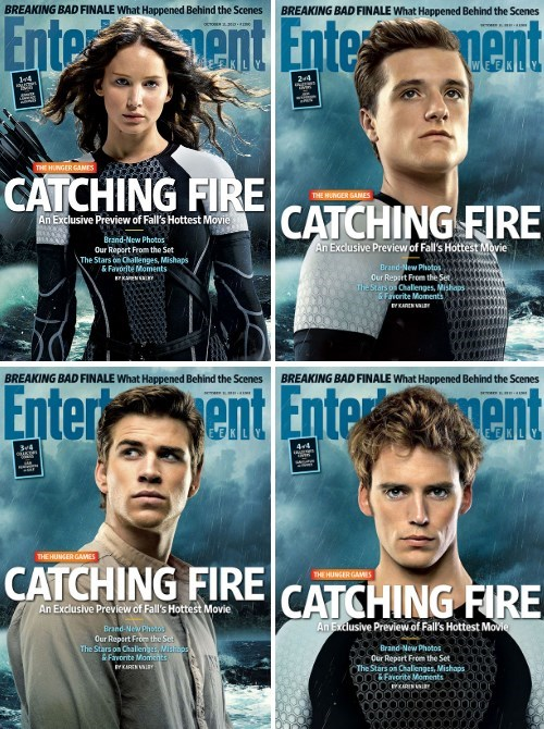 'Catching Fire' Cast Gets EW Covers