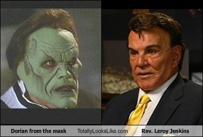 Dorian From The Mask Totally Looks Like Rev. Leroy Jenkins