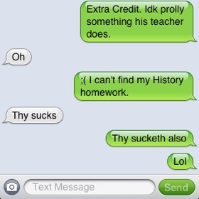 Autocorrect Goes Old School