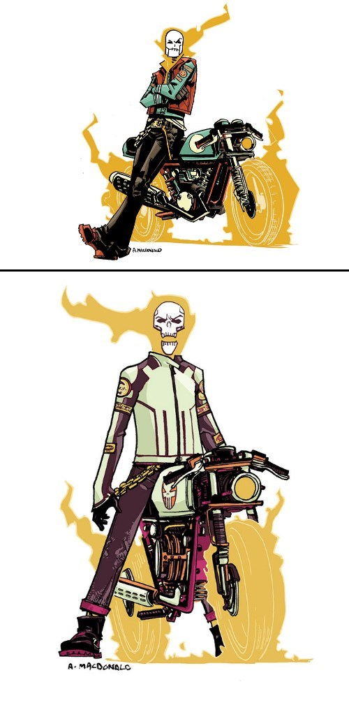Andy MacDonald Drew A Punk Rock Ghost Rider