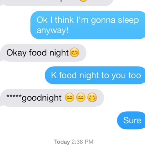 autocorrect,goodnight,text,food