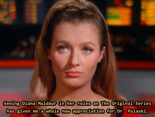 diana muldaur,TNG,TOS,dr pulaski,Star Trek