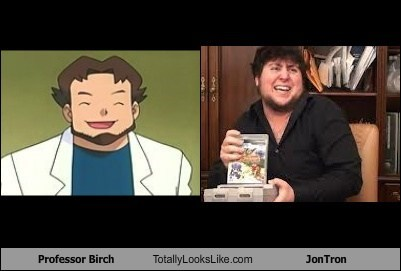 jontron,Pokémon,totally looks like,professor birch,funny