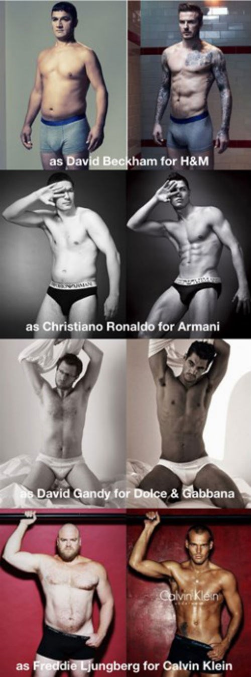 Real Men Posing as Underwear Models
