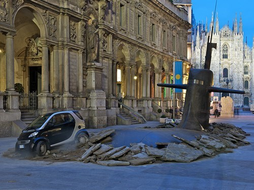 Submarines in Milano: Making the Unreal on City Streets