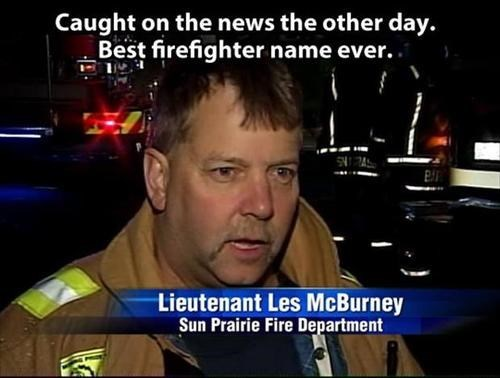 This is the Best Name for a Firefighter Ever