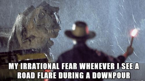road flare,fear,jurassic park