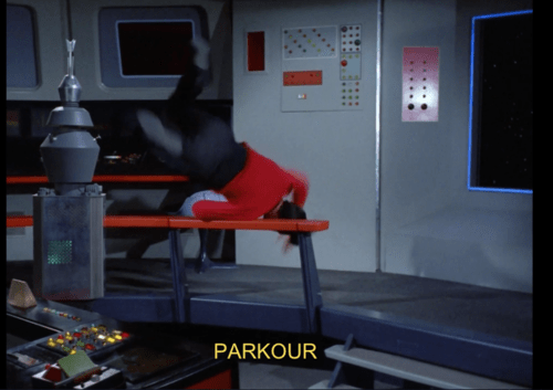 parkour,TOS,red shirt,Star Trek