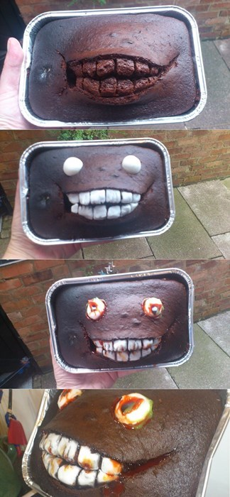 Turning a Baking Accident into a Spooky Treat