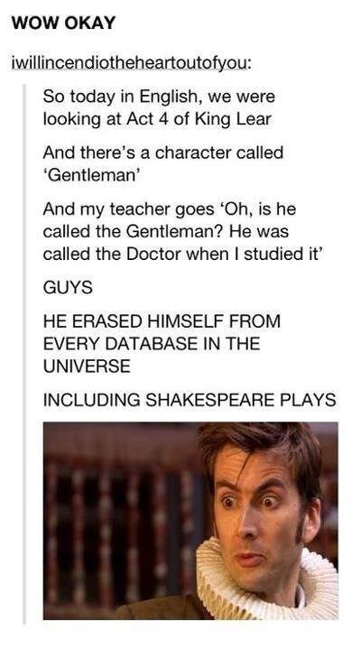 clever,shakespeare,doctor who,funny,g rated,School of FAIL
