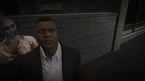 photobomb,GTA V,zombie