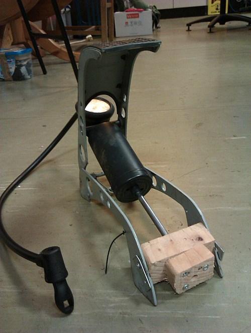 there I fixed it,bike pump,wood