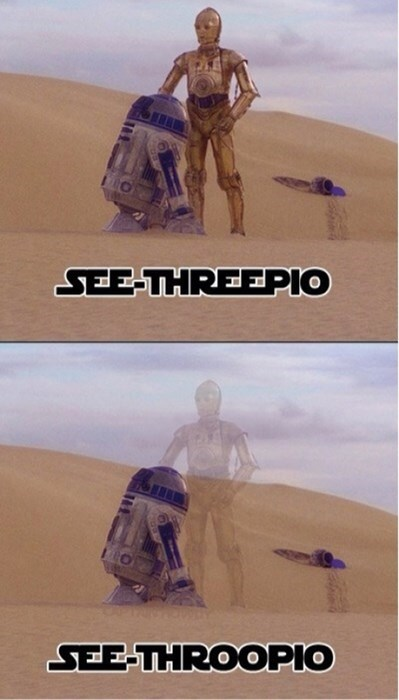 I Can't See The Droids I'm Looking For