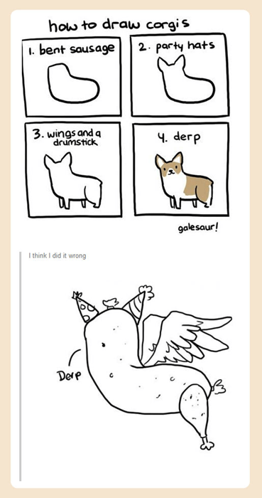 How to Draw a Corgi