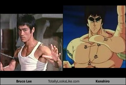fist of the north star,totally loosk like,nunchucks,bruce lee,kenshiro,funny