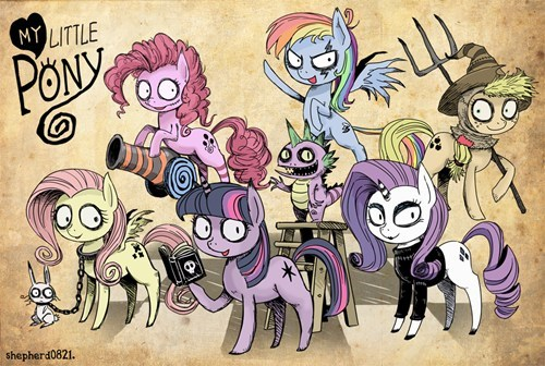 My Little Pony as directed by Tim Burton