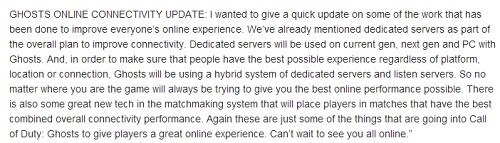 call of duty,dedicated servers,Video Game Coverage,call of duty: ghosts