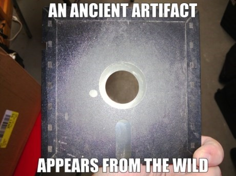 past,floppy disks